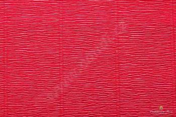 Krepový papír role 50cm x 2,5m - červená 582