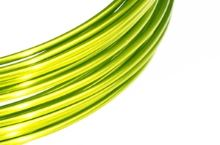 Dekorační drát hliníkový - citronový