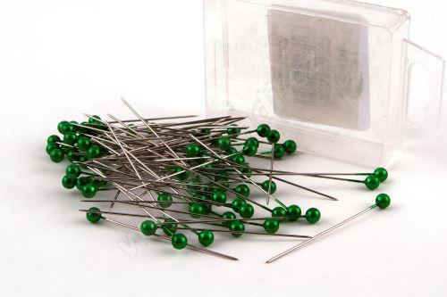 Dekorační špendlík do klopy 55mm zelený