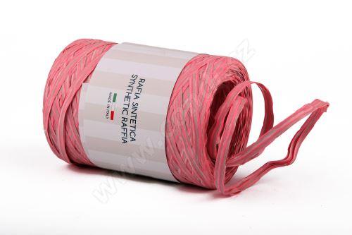 Stuha poly rafie vintage 68181 5mm x 200m - 05 růžová