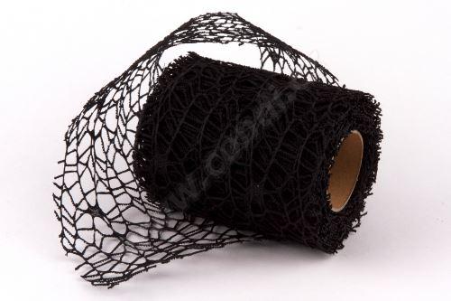 Dekorativní tkanina Big spider 10cm x 4,6m ČERNÁ