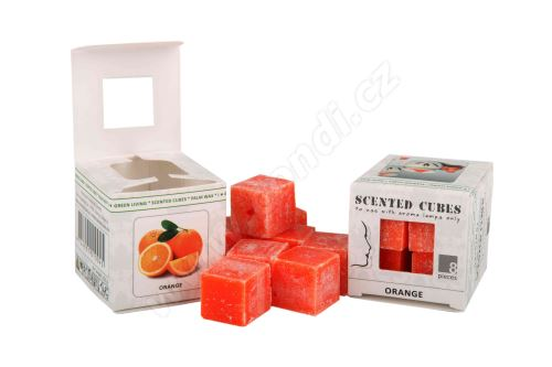 Vonný vosk do aromalamp Scented cubes - orange
