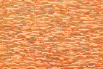Krepový papír 180g role 50cm x 2,5m - tm. Oranžová 581