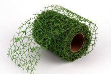 Dekorativní tkanina Big spider glitr 10cm x 4,6m TM.ZELENÁ