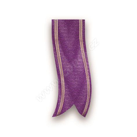 Smuteční stuha mramorová s metalem 68190 7 cm x 100 m - 55 fialová