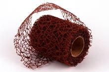 Dekorativní tkanina Big spider 10cm x 4,6m HNĚDÁ