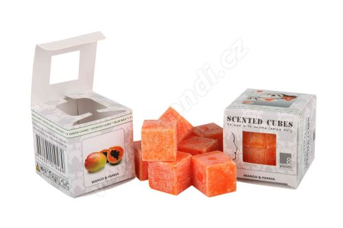 Vonný vosk do aromalamp Scented cubes - mango & papaya