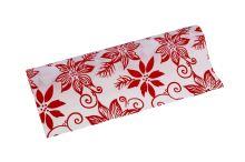 Vánoční polyjutová role 28cm x 3m AJ1544 1-bílá/červená