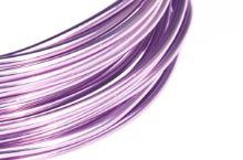 Dekorační drát hliníkový - levandulový
