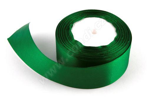 Stuha saténová 4 cm x 23 m 90 zelená