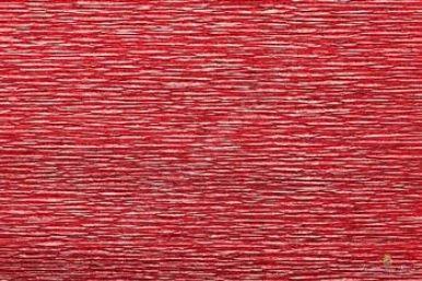 Krepový metalizovaný papír role 50cm x 2,5m - červený 803