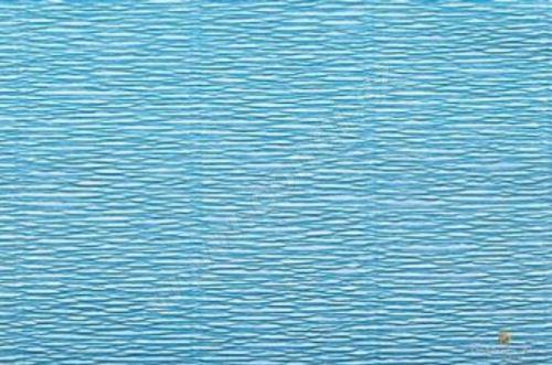 Krepový papír 180g role 50cm x 2,5m - blankytně modrý 556
