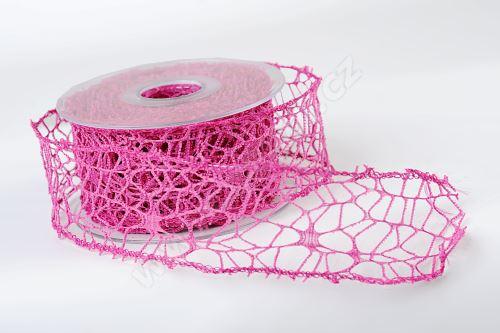 Dekorativní stuha Big spider 5cm x 9,1m CYKLÁMEN