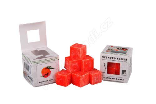 Vonný vosk do aromalamp Scented cubes - mandarin & chili
