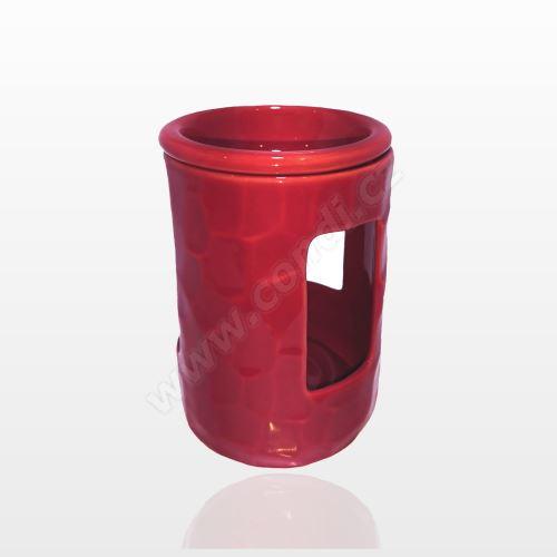 Aromalampa REVAL CERAMIC červená - pro vonné vosky Scented Cubes