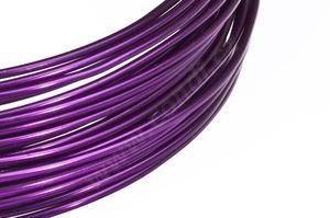 Dekorační drát hliníkový - fialový