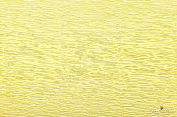 Krepový papír 180g role 50cm x 2,5m - žlutá 574