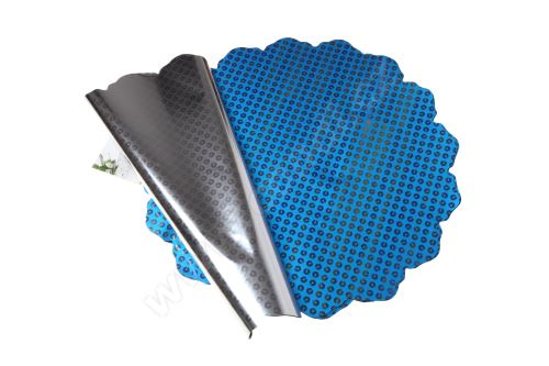 Floristická ronda 50cm metal modrá disk 1/2 50ks