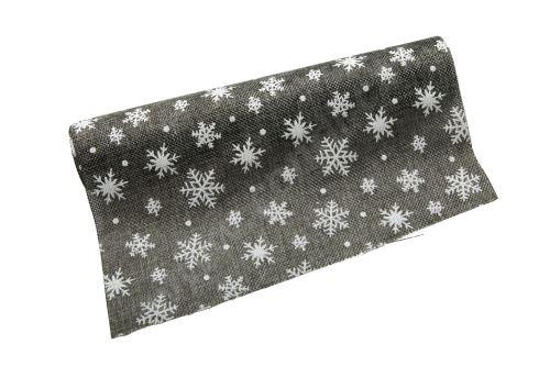 Vánoční jutová role 28cm x 3m 3 - šedá/bílá