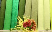 Krepový papír role 50cm x 2,5m - zelená 563