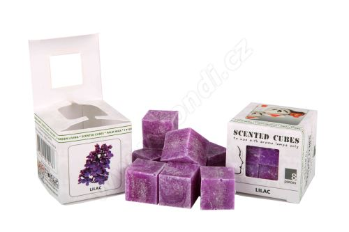 Vonný vosk do aromalamp Scented cubes - lilac