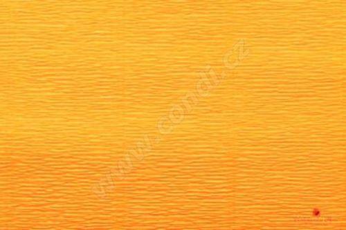 Krepový papír 180g role 50cm x 2,5m - tmavě žlutý 17E/5
