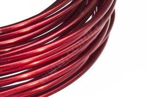 Dekorační drát hliníkový - červený