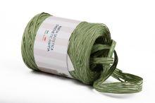 Stuha poly rafie vintage 68181 5mm x 200m - 11 zelená