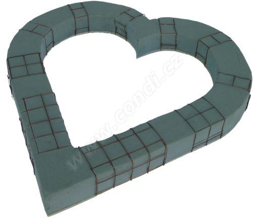Srdce s aranožovací hmotou 50 cm - otevřené