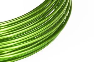 Dekorační drát hliníkový - zelené jablko