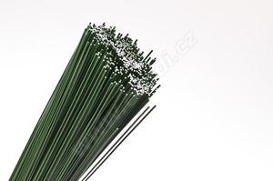 Floristický vázací drát na gerbery zelený -  O 0,8 mm