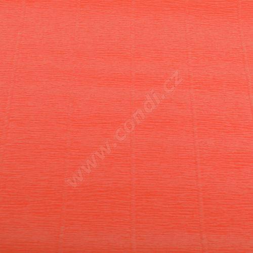 Krepový papír 180g role 50cm x 2,5m - lososový 617