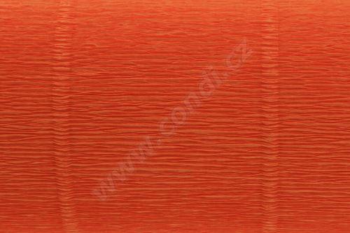 Krepový papír 180g role 50cm x 2,5m - oranžový 20E2