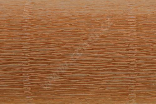 Krepový papír 180g role 50cm x 2,5m - světle oranžová 20E6