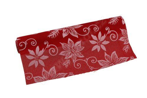 Vánoční polyjutová role 28cm x 3m AJ1544 2-červená/bílá