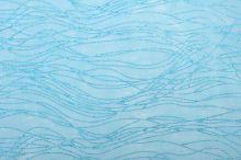 Vlizelín dekorativní a aranžerský s glitrem 37,5cm TYRKYSOVÝ