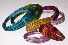 Dekorační drát hliníkový - tyrkysový