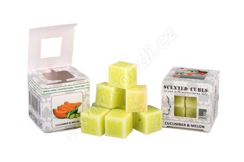 Vonný vosk do aromalamp Scented cubes - cucumber & melon