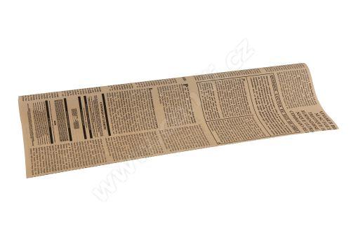 Floristická fólie 50cm x 9,1m novinový design 4/20 béžová s černou