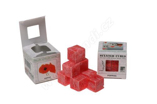 Vonný vosk do aromalamp Scented cubes - poppies