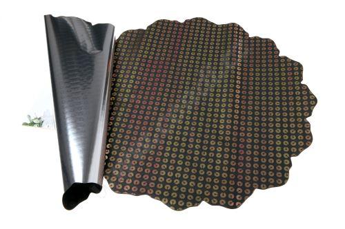 Floristická ronda 50cm metal černá disk 1/2 50ks