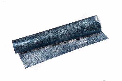 Vánoční metalická tkanina long fiber - metal 30cm x 4,6m tyrkysová