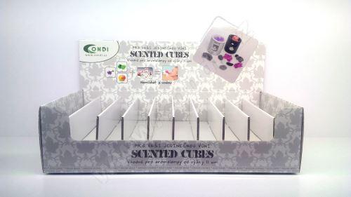 Prodejní box na 120ks vonných vosků Scented Cubes
