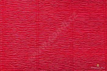 Krepový papír 180g role 50cm x 2,5m - tm. červená 586
