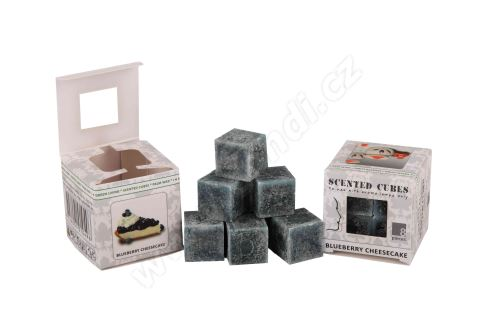 Vonný vosk do aromalamp Scented cubes - blueberry cheesecake