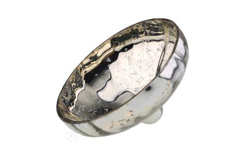 Svícen skleněný plovoucí 9,5 cm rolnické stříbro