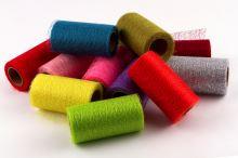 Dekorativní tkanina Fibre 12cm x 9,1m RŮŽOVÁ