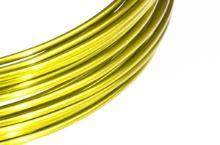 Dekorační drát hliníkový - žlutý