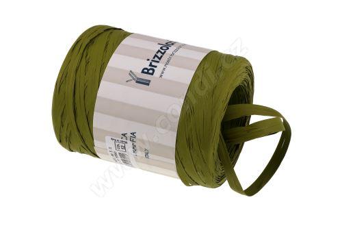 Stuha rafie matná 6802 5mm x 200m - 52 olivově zelená