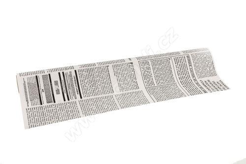 Floristická fólie 50cm x 9,1m novinový design 1/20 bílá s černou